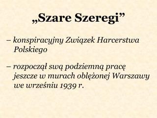 """""""Szare Szeregi"""""""