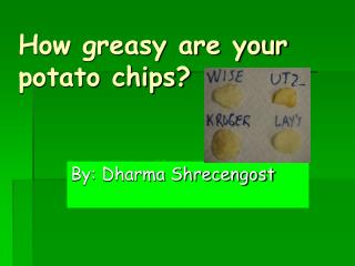 How greasy are your potato chips?