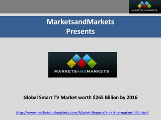 Smart TV Market, Connected/Hybrid TV Market(2011 - 2016)