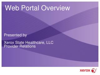 Web Portal Overview