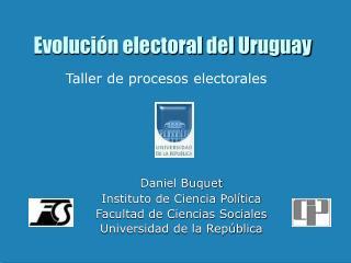 Evolución electoral del Uruguay