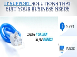 it support solutions that suit your business needs