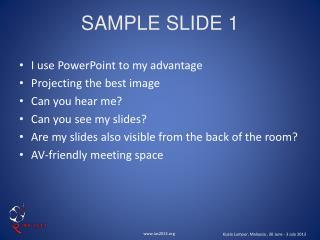 SAMPLE SLIDE 1