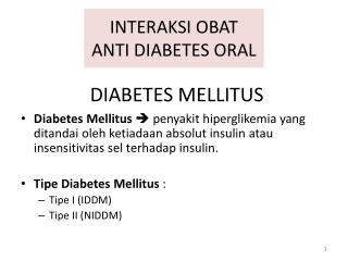 INTERAKSI OBAT ANTI DIABETES ORAL