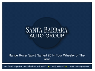 Santa Barbara Auto Group Offers Service