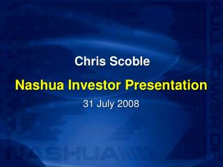 Chris Scoble