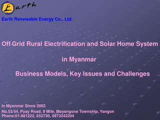 Earth Renewable Energy Co., Ltd.