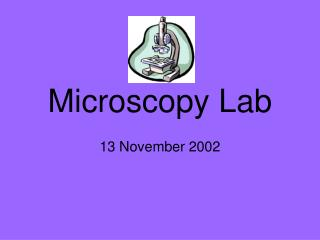Microscopy Lab