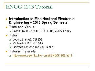 ENGG  1203  Tutorial