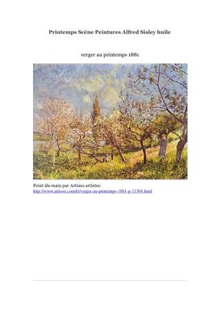 Printemps Scène Peintures Alfred Sisley huile -- Artisoo