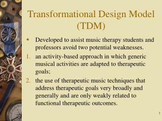 Transformational Design Model (TDM)