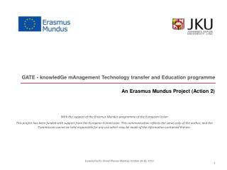 An Erasmus Mundus Project (Action 2)