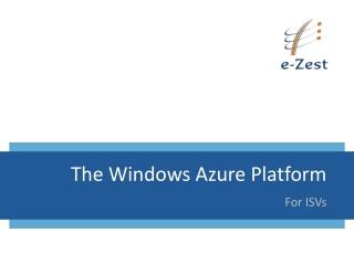the windows azure platform