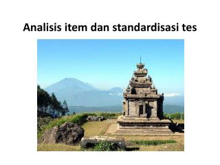 Analisis  item  dan standardisasi tes