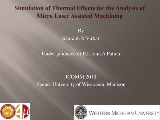 Simulation of Thermal Effects for the Analysis of Micro Laser Assisted Machining