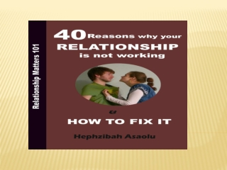 40 reasons why your relationship is not working