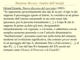 Madame Bovary : Analisi dell'incipit