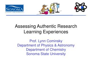 Assessing Authentic Research Learning Experiences