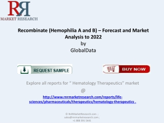 Sales Forecast for Recombinate Market [Hemophilia A and B]