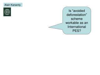 "Is ""avoided deforestation"" scheme workable as an International PES?"