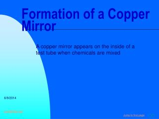 Formation of a Copper Mirror