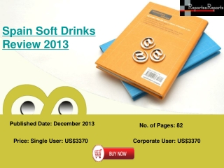 Review For Spain Soft Drinks Industry 2013