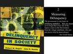 2 Measuring Delinquency The government is very keen on amassing statistics .But you must never forget that every one of