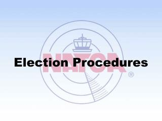 Election Procedures