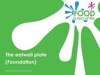 The eatwell plate (Foundation)