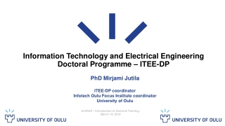 Information Technology and Electrical Engineering Doctoral Programme – ITEE-DP