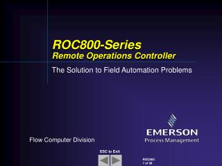 ROC800-Series  Remote Operations Controller