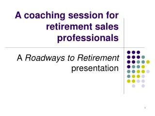 A coaching session for retirement sales professionals