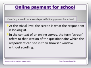 The best online payment solution for school colleges and ins