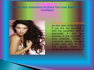 Seamless Hair Extensions