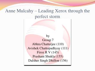 Anne Mulcahy – Leading Xerox through the perfect storm