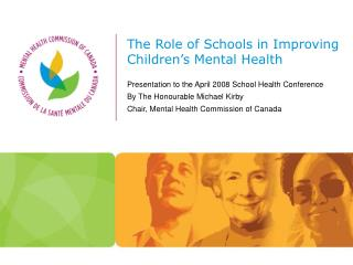 The Role of Schools in Improving Children's Mental Health