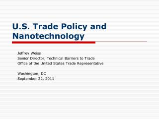 U.S. Trade Policy and Nanotechnology