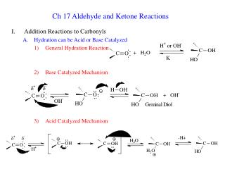 Ch 17 Aldehyde and Ketone Reactions