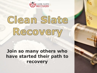 Addiction Counseling-Clean Slate Recovery