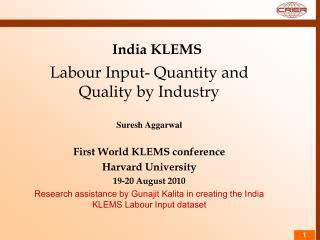 India KLEMS