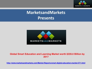 Smart Education and Learning Market worth $220 By 2017