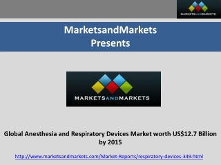 Global Anesthesia and Respiratory Devices Market by 2015