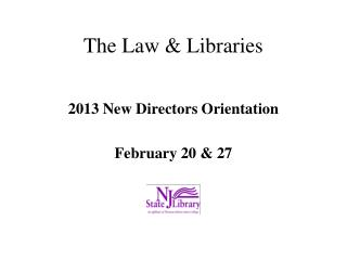 The Law & Libraries