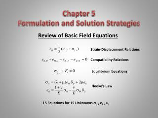 Chapter 5 Formulation and Solution Strategies