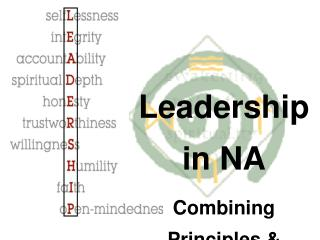 Leadership in NA Combining Principles & Personalities