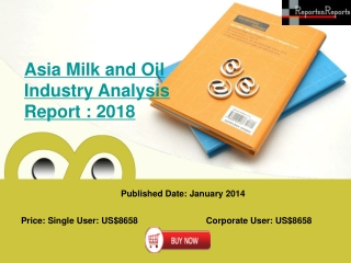 Milk Fat and Oil Markets in Asia - 2018 Market Analysis Repo