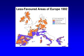 Less-Favoured Areas of Europe 1992