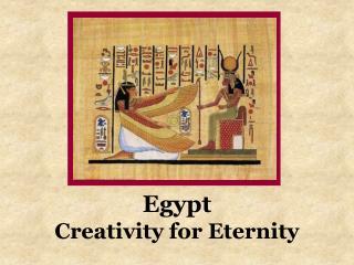 Egypt Creativity for Eternity