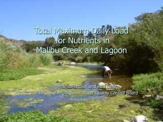 Total Maximum Daily Load for Nutrients in Malibu Creek and Lagoon