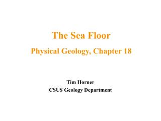 Tim Horner CSUS Geology Department